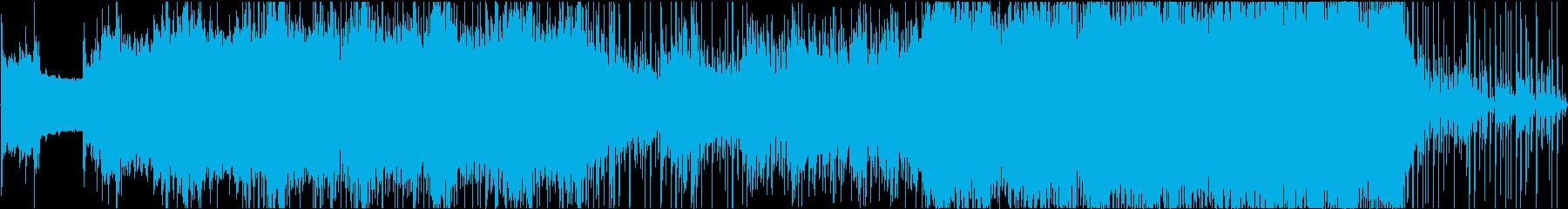シンセによるホラー感のある楽曲の再生済みの波形