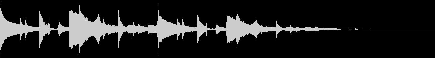 時報風 合図 ポーンの未再生の波形