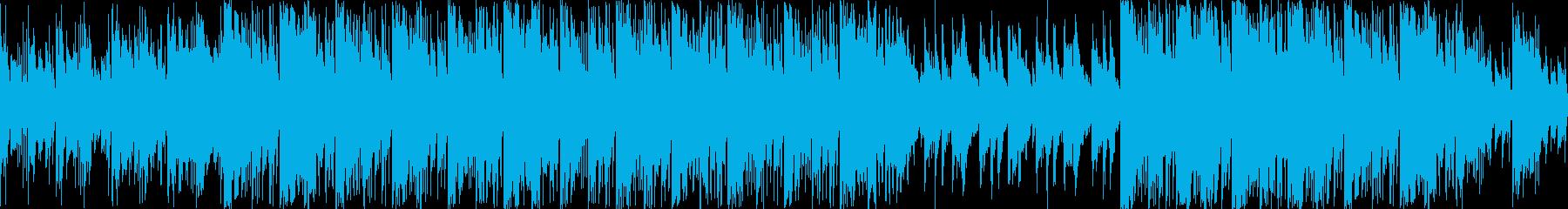 ワイルドで渋い和風エピックBGM ループの再生済みの波形