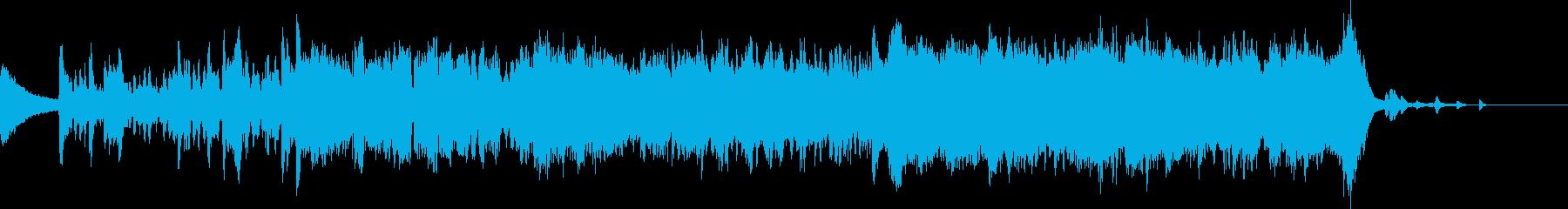アジア 壮大なフルオーケストラ 二胡の再生済みの波形