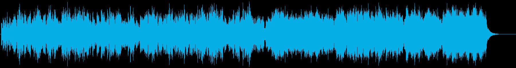 柔らかい優しく展開あるシンセサイザーの曲の再生済みの波形