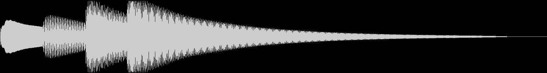 ピンポンパンポン(悲報入り)の未再生の波形