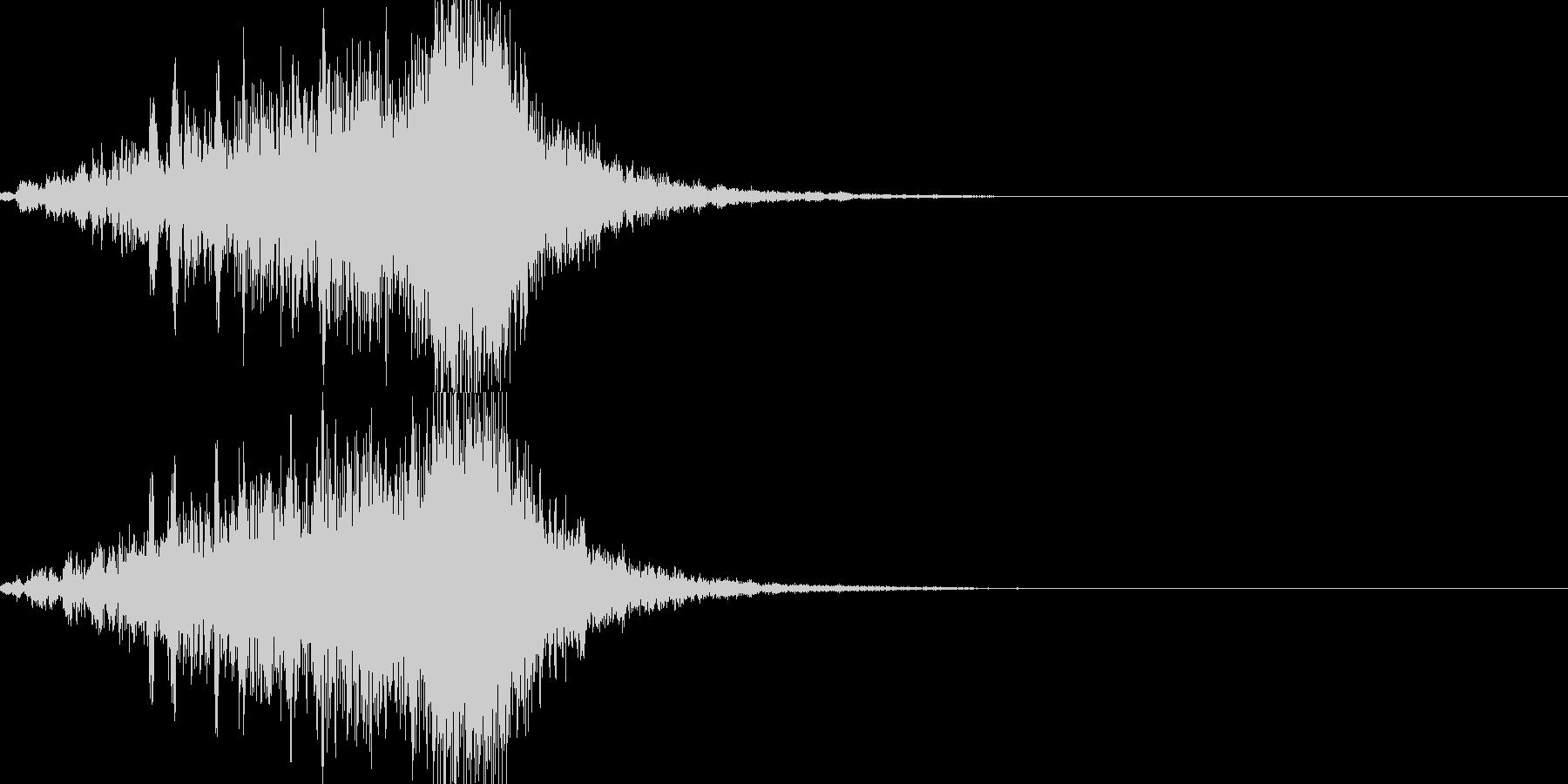 ワープ音05の未再生の波形