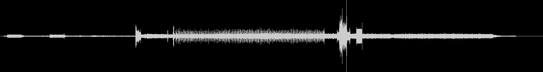 ファックス受信ドキュメント、リング...の未再生の波形