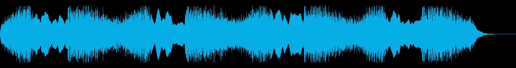 パトカー サイレン音の再生済みの波形