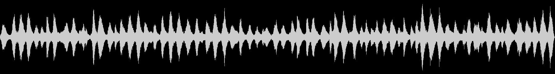 海辺近くの洞穴から録音した波音【秋、昼】の未再生の波形