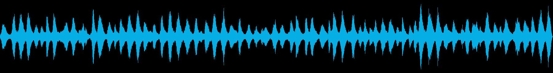 海辺近くの洞穴から録音した波音【秋、昼】の再生済みの波形