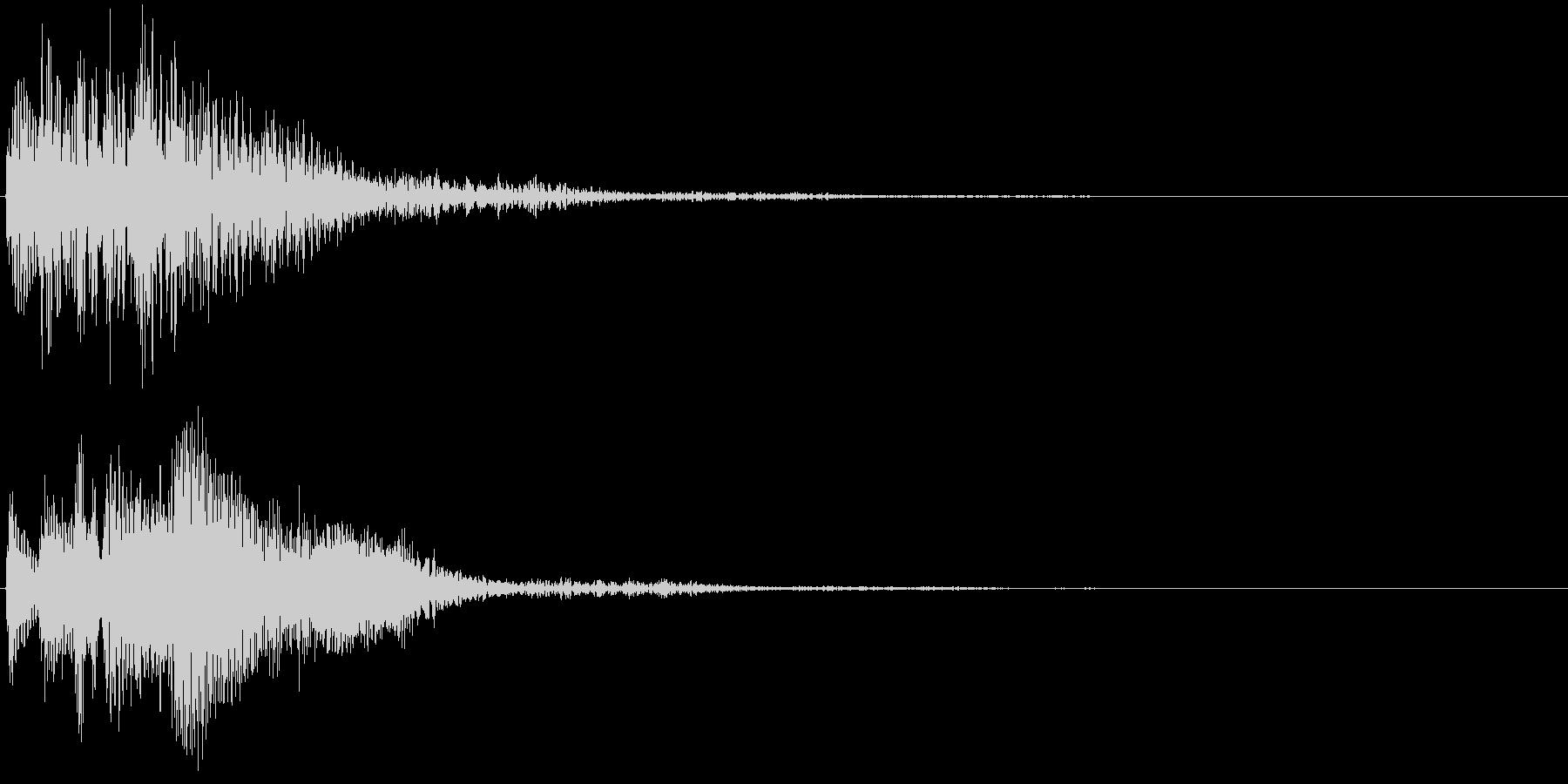 未来的・決定・選択・空気感・効果音12の未再生の波形