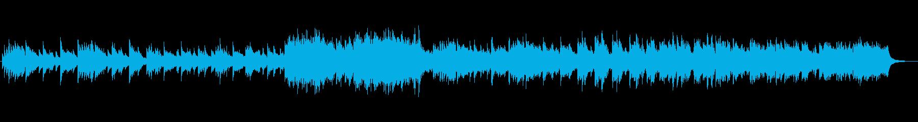 ピアノ&ストリングスの昭和ドラマ風初恋の再生済みの波形