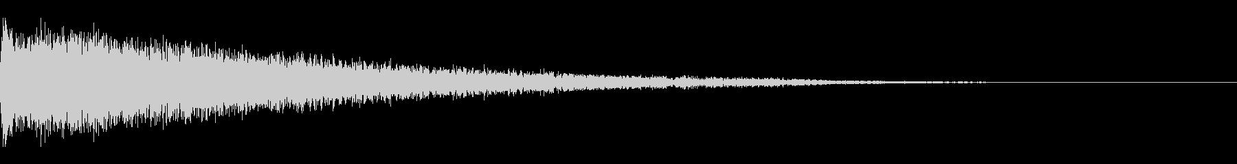 ピアノの低音 ガーン・絶望・衝撃の未再生の波形