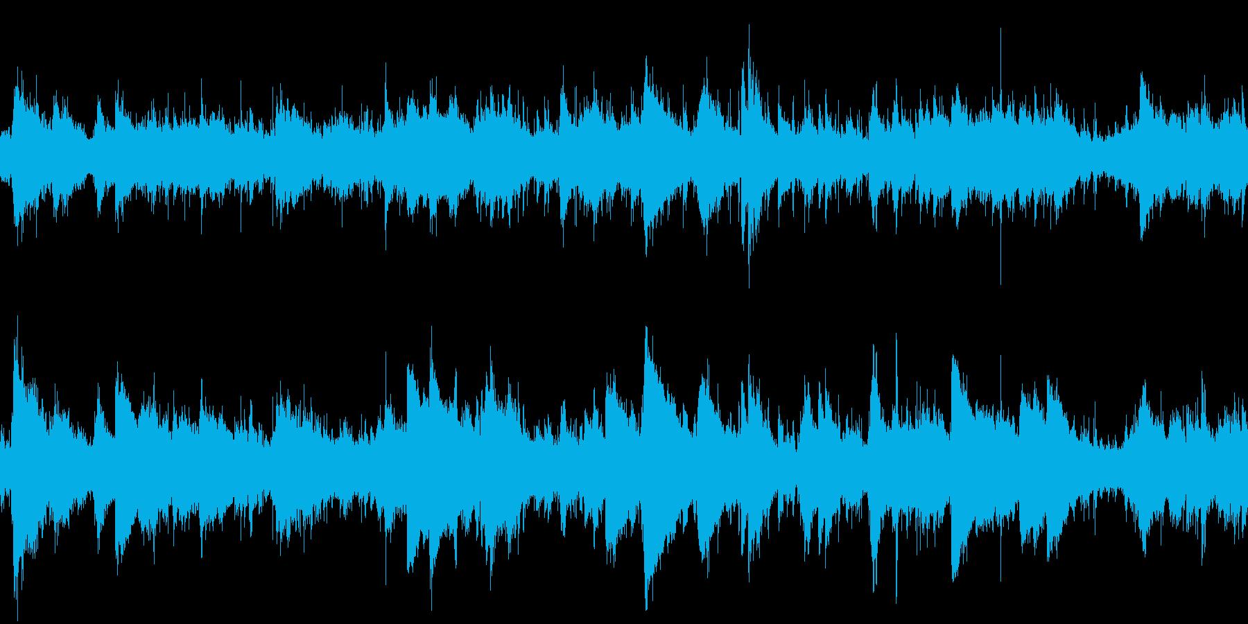 水琴窟の水滴・ヘルムホルツ共鳴:ループ可の再生済みの波形