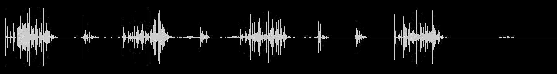 ノイズ 単純なクラックルシーケンス03の未再生の波形