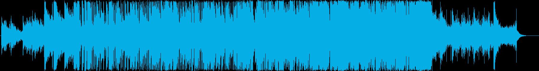 パワフルでわくわくするメロディーの再生済みの波形