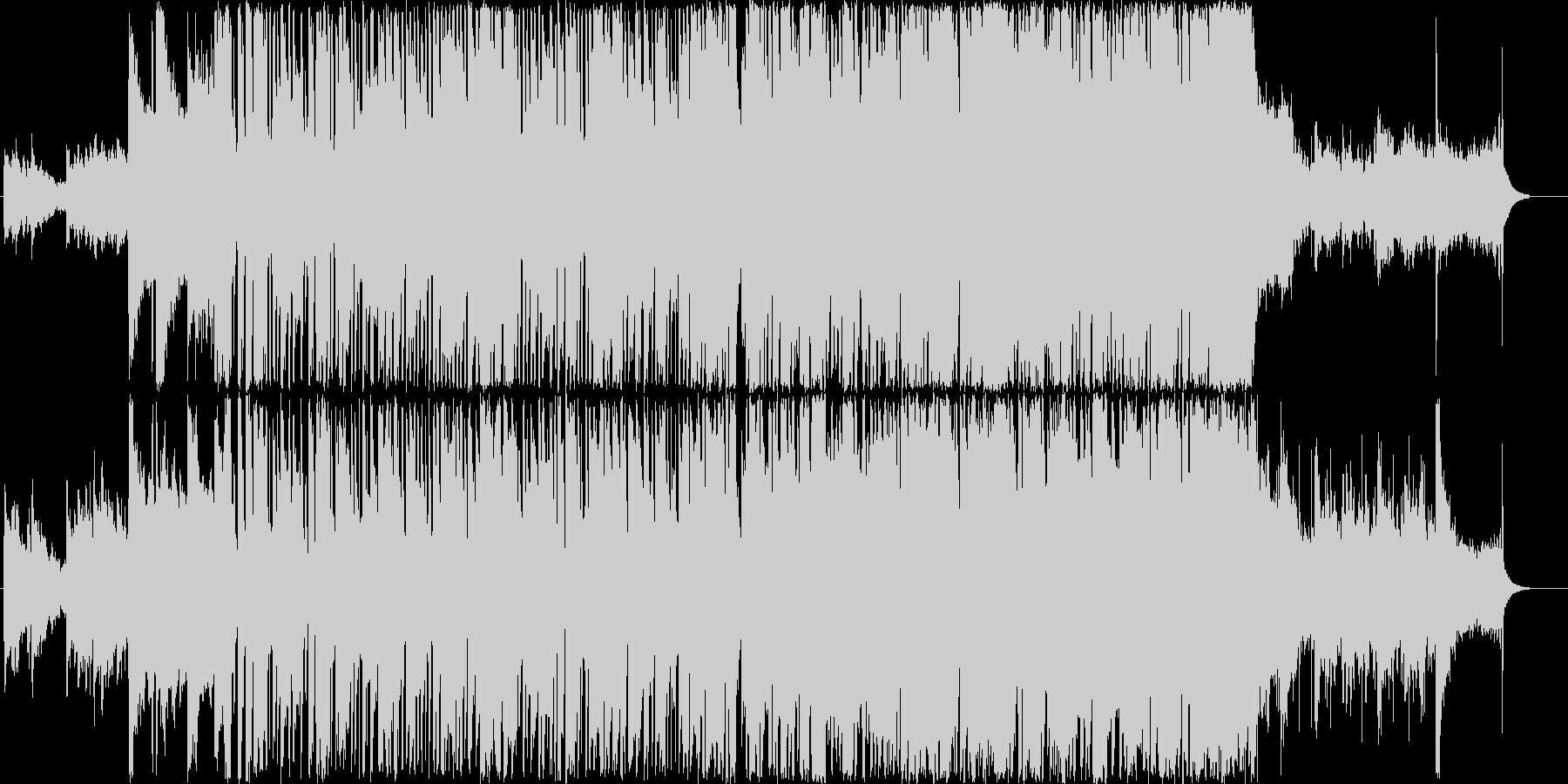 パワフルでわくわくするメロディーの未再生の波形
