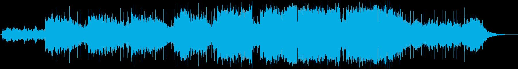 ハードボイルドな切ない曲の再生済みの波形