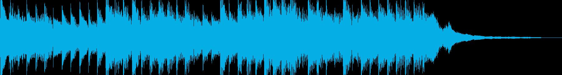 短めのキレイ目でしずかなインストの再生済みの波形