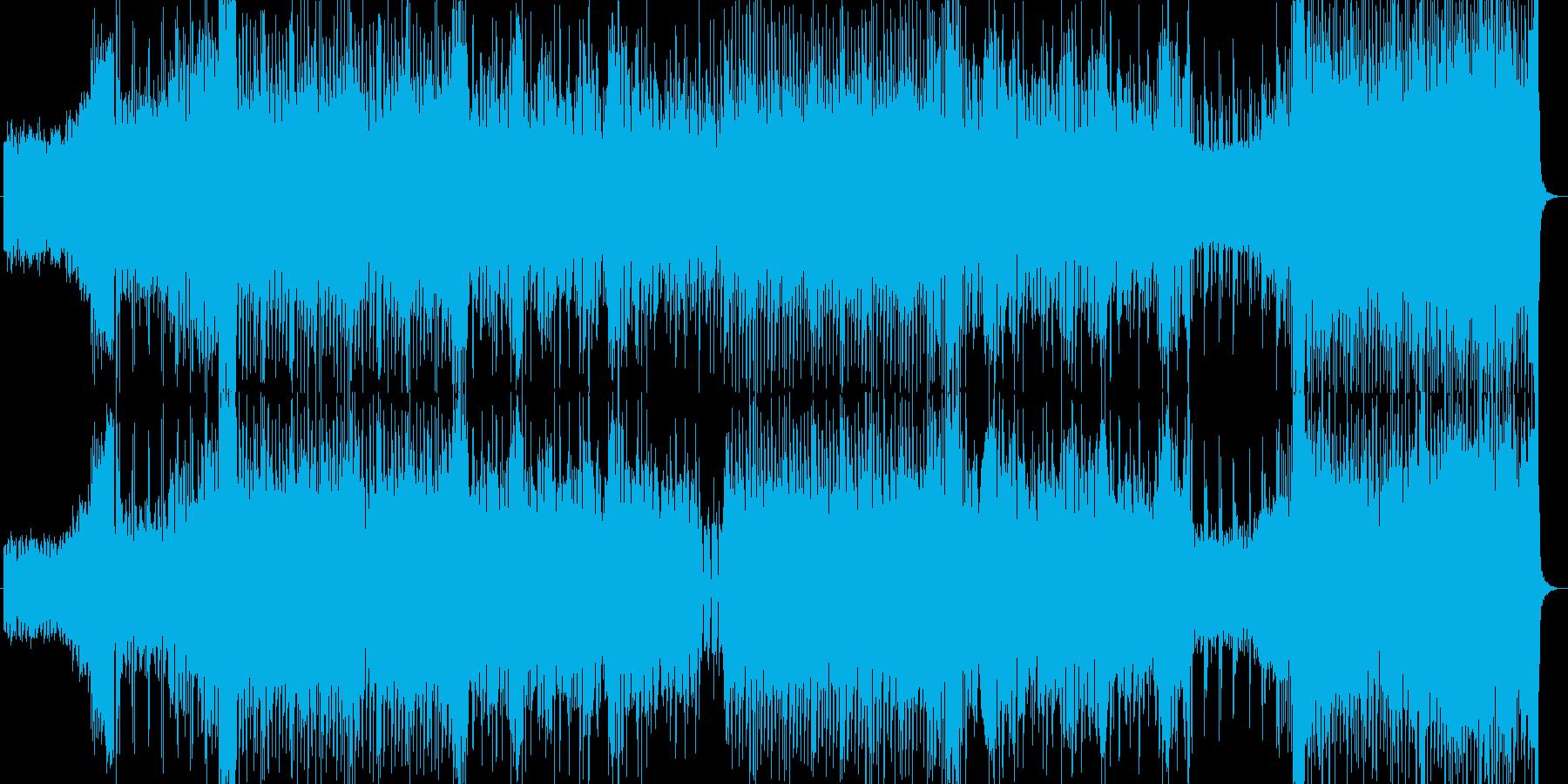 ダークなハウス調の再生済みの波形