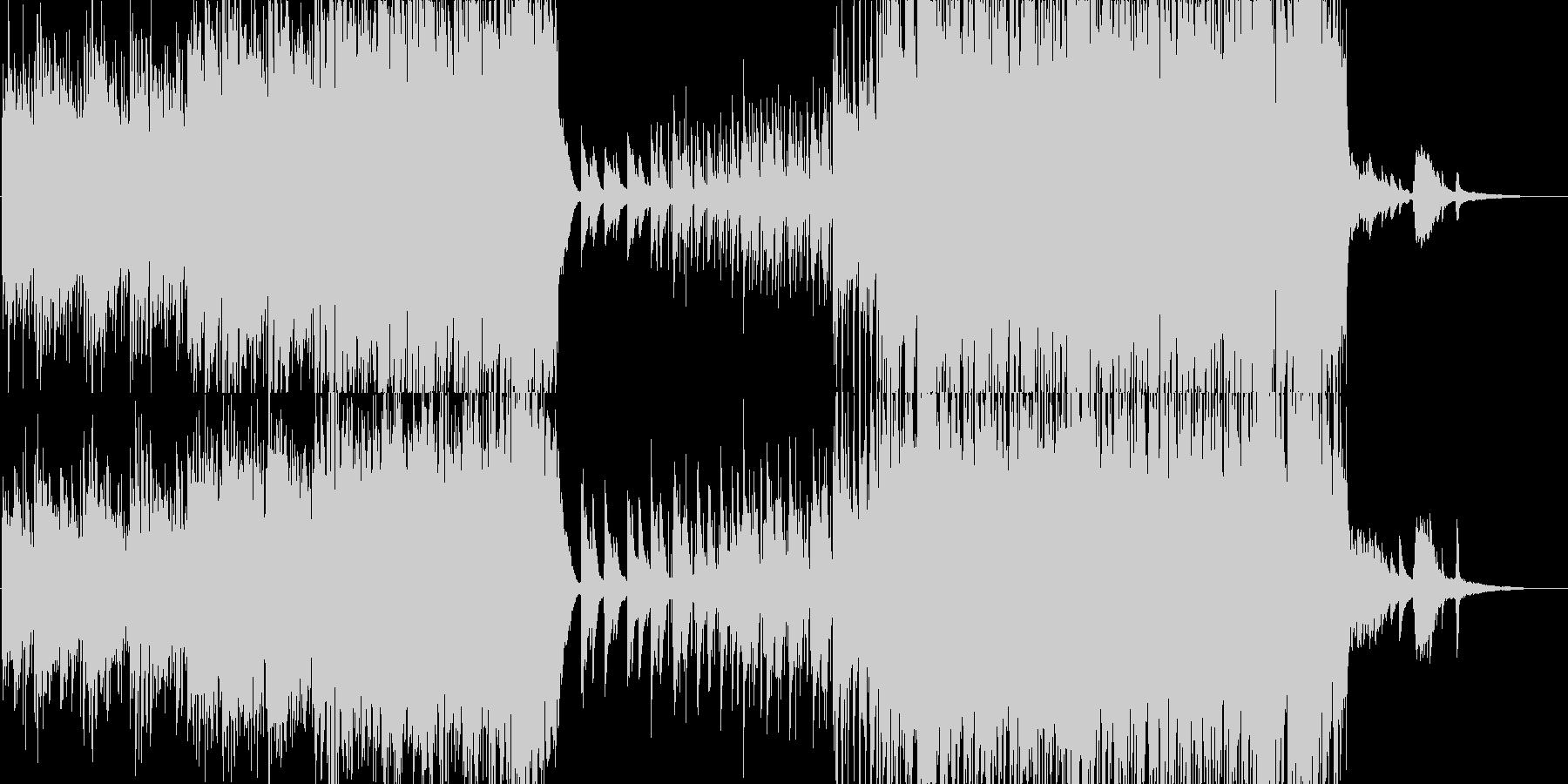 ピアノ、ストリングス、優しく切ないBGMの未再生の波形