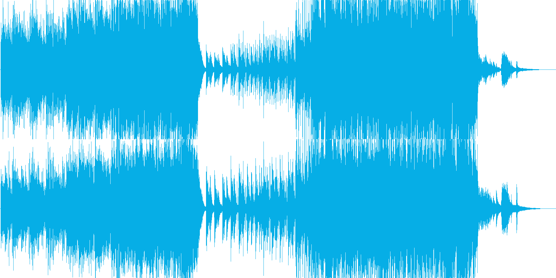 ピアノ、ストリングス、優しく切ないBGMの再生済みの波形