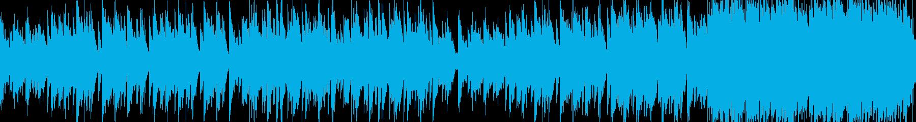 懐かしさを感じるアコースティック曲ループの再生済みの波形