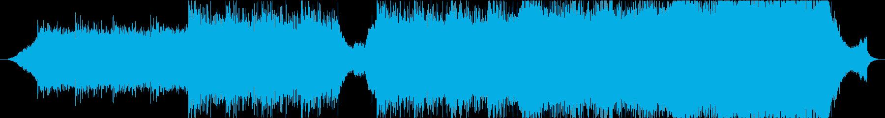 壮大な映画のバックグラウンドトラックの再生済みの波形