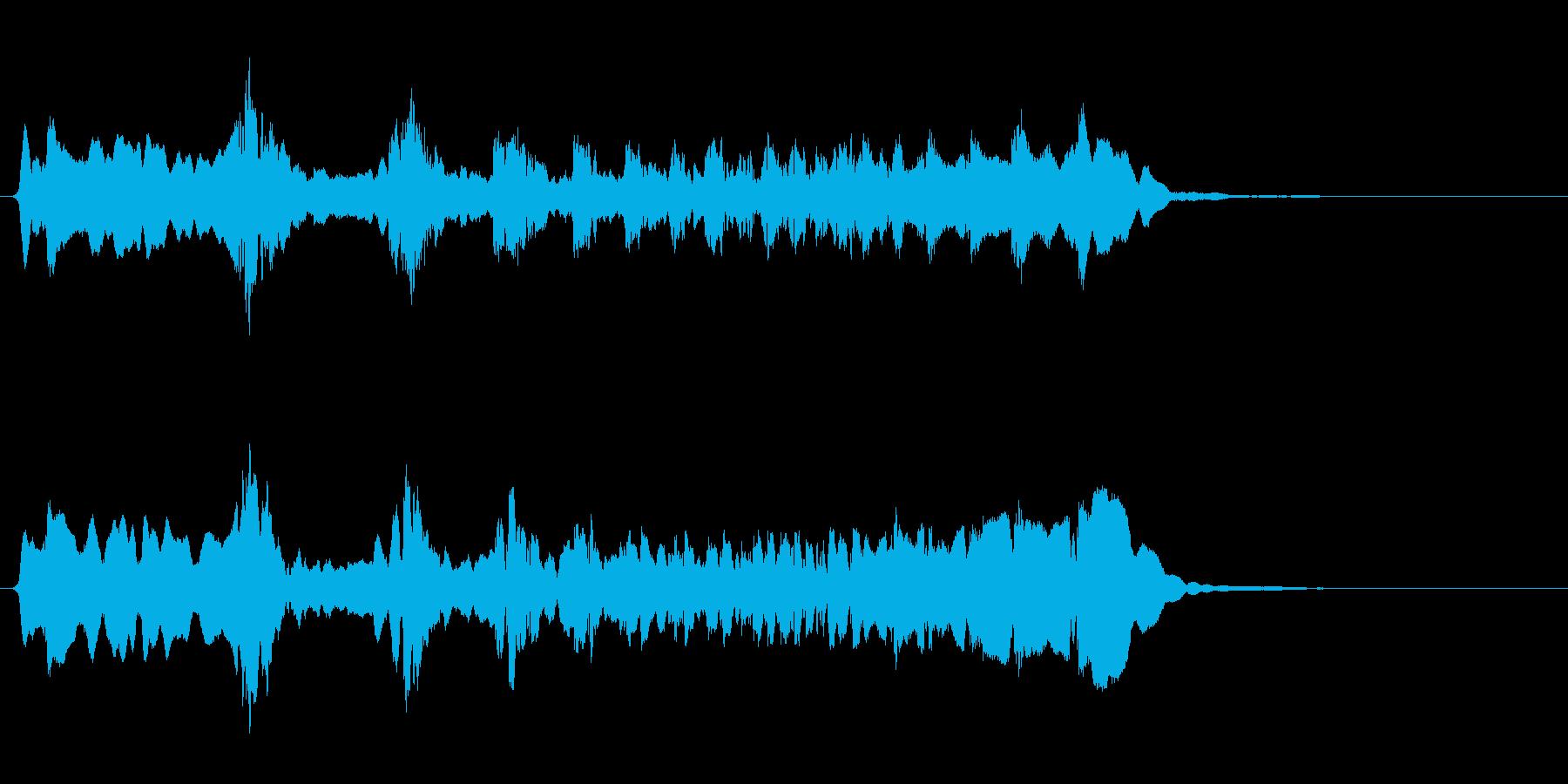 サムライ参上!尺八のフレーズ音+FXの再生済みの波形