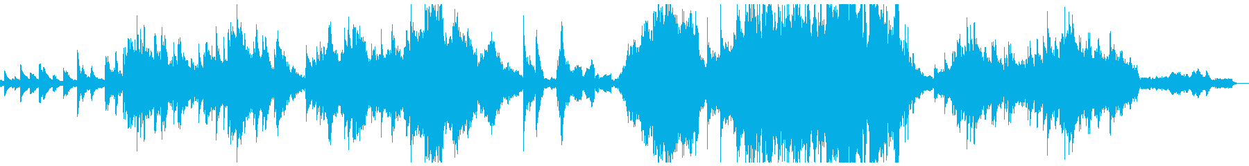ピアノメインの感動的なシンフォニアの再生済みの波形