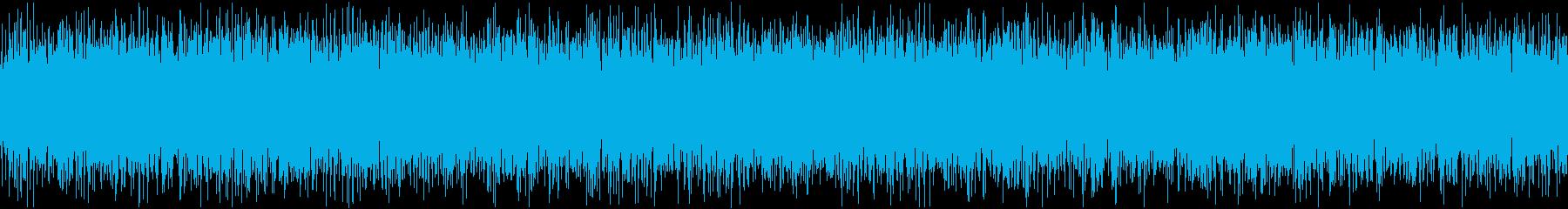 ザァー(AMラジオのノイズA)ループ処理の再生済みの波形