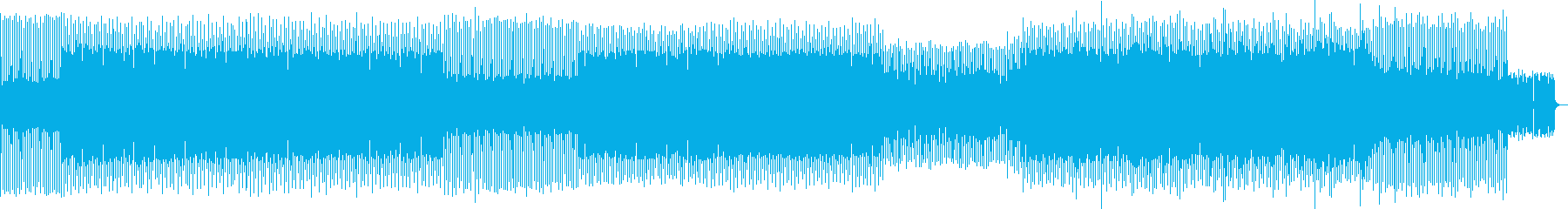 アグレッシブで楽しいミニマルテクノの再生済みの波形