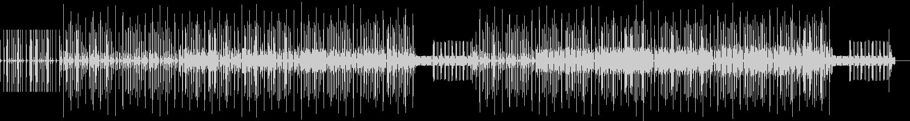 虫が動き回る様なコミカルな曲の未再生の波形