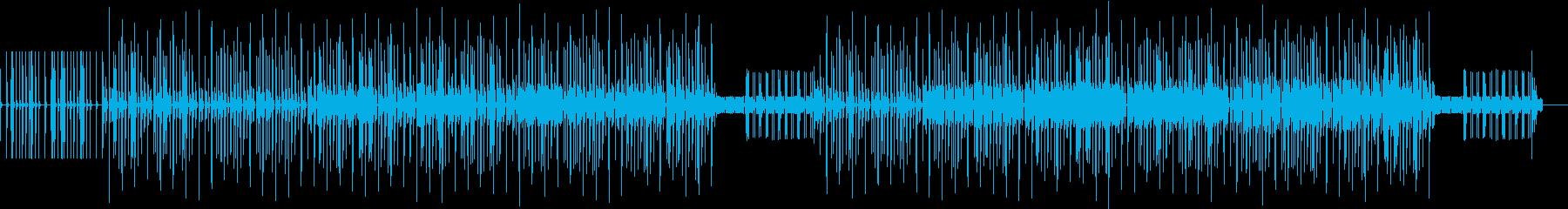 虫が動き回る様なコミカルな曲の再生済みの波形