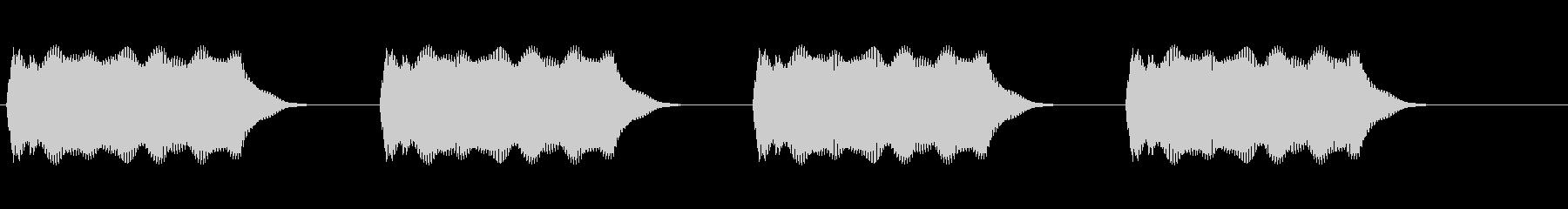 警報1の未再生の波形