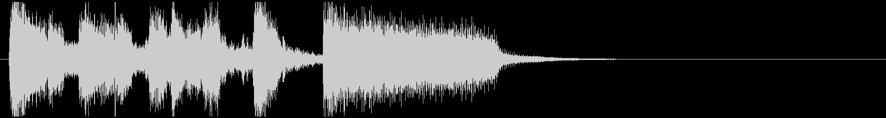 快活で勢いあるモダンジャズ系サウンドロゴの未再生の波形