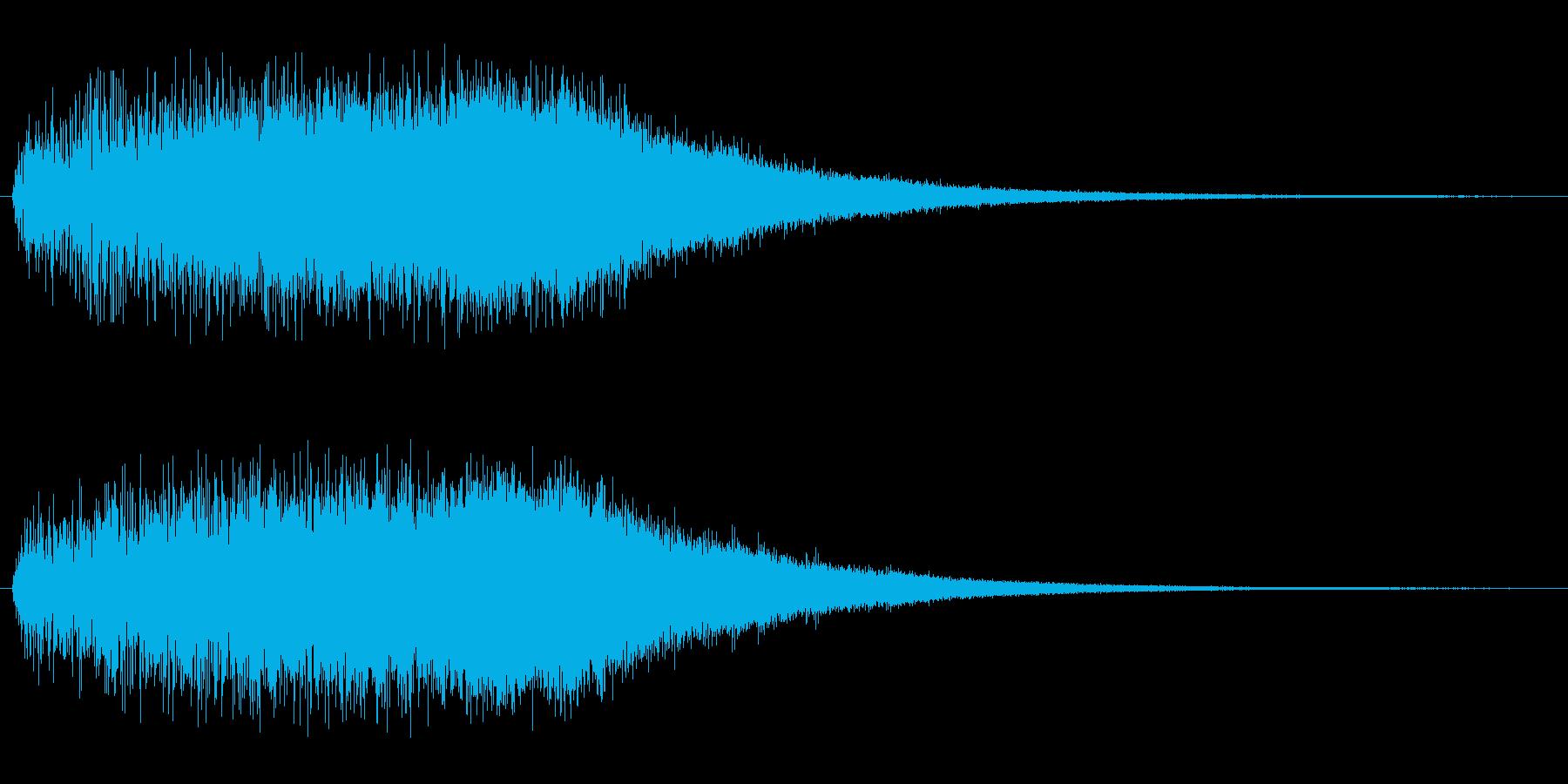 ジャラララー(壮大な登場・発動効果音)の再生済みの波形