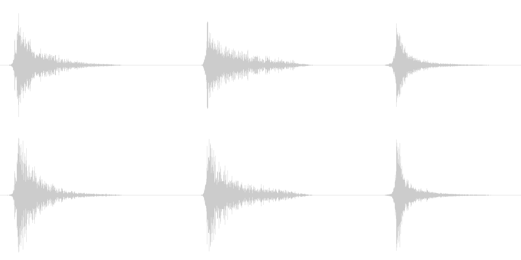 ドアスラムヘビーx3の未再生の波形