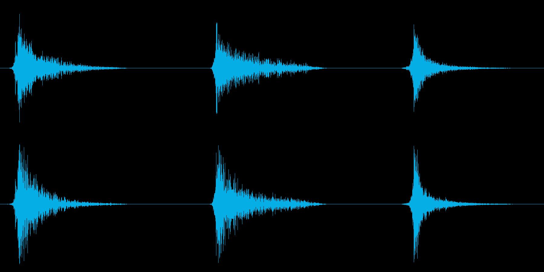 ドアスラムヘビーx3の再生済みの波形