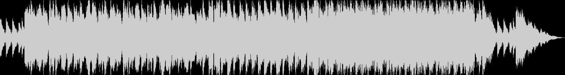 神秘的で不思議な雰囲気のBGM3の未再生の波形