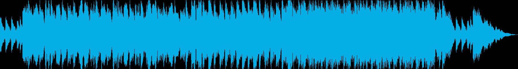 神秘的で不思議な雰囲気のBGM3の再生済みの波形