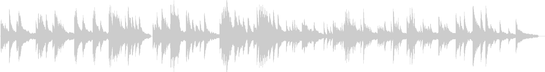 ヒーリングピアノ組曲 まどろみ 9の未再生の波形