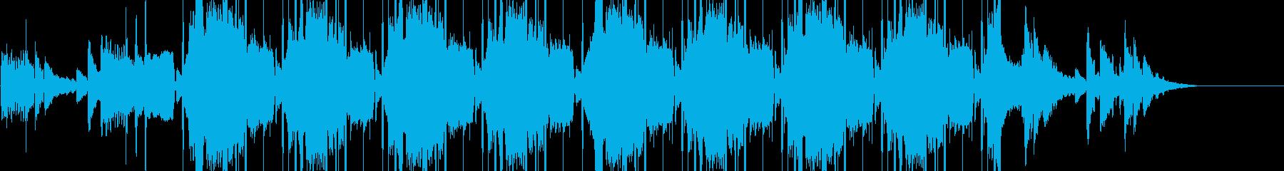 切なげな雰囲気のチルアウトBGMの再生済みの波形