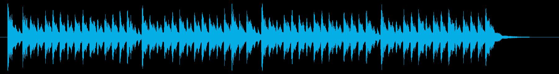 ポップなデジタル調ジングルの再生済みの波形