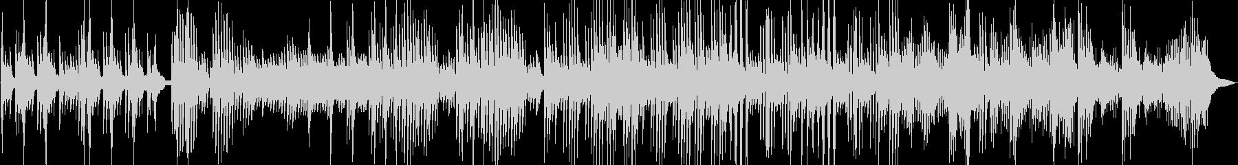 深海に降る雪 幻想的なピアノ曲の未再生の波形