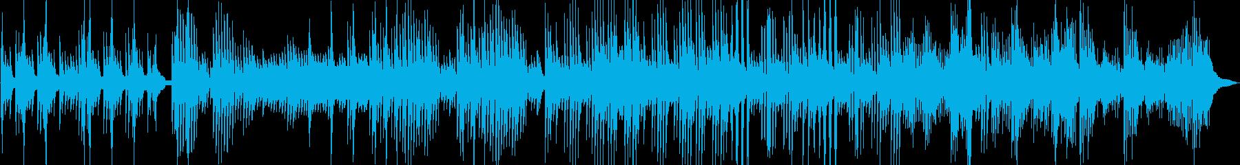 深海に降る雪 幻想的なピアノ曲の再生済みの波形