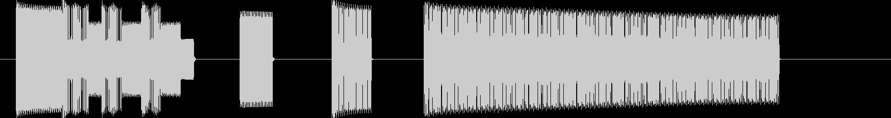 レベルアップ_8bit_ドラクエ風の未再生の波形