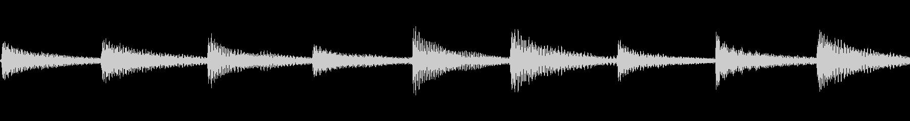 生楽器録音 癒しのカリンバループの未再生の波形