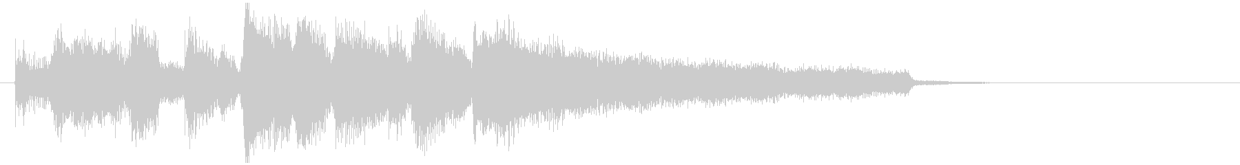 明るいジャズ・サックスのジングルの未再生の波形