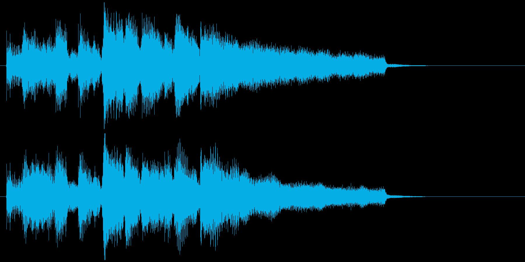 明るいジャズ・サックスのジングルの再生済みの波形