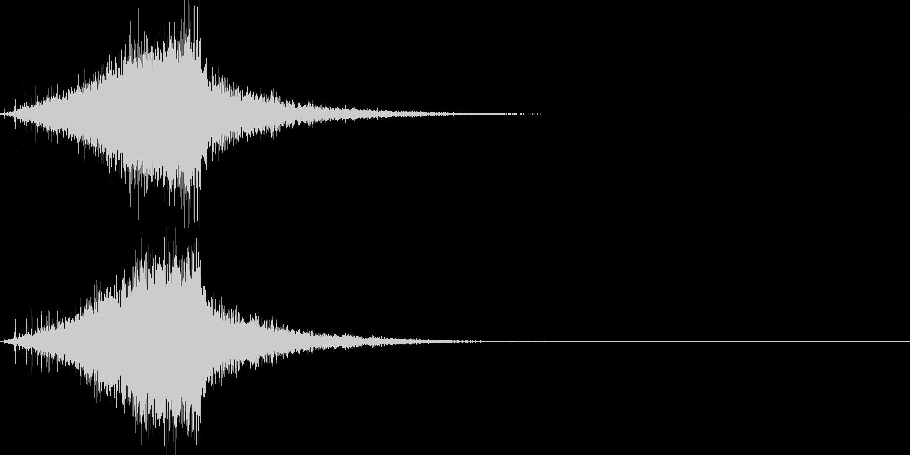 シュー(ノイズがフェードアウトする音)の未再生の波形