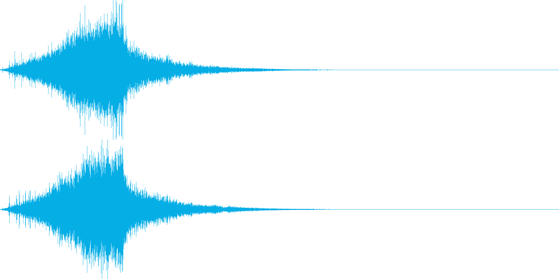 シュー(ノイズがフェードアウトする音)の再生済みの波形