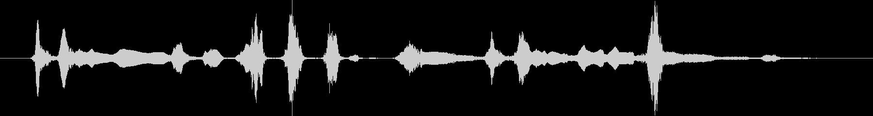 3つのハスキー:ショートバーキング...の未再生の波形